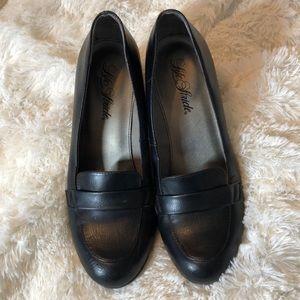 Life Stride Loafer Black Heels